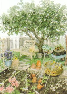 Planting a garden by Inge Löök...