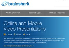 With Brainshark's cloud-based software, you can easily transform static content such as PowerPoint® documents into voice-enriched video presentations that can be accessed anytime on-demand. There is a free version and a pro version....the free has plenty of features for your students.