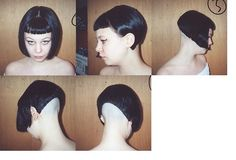Shaved Bob, Shaved Undercut, Shaved Hair Cuts, Shaved Nape, Short Hair Cuts, Undercut Hairstyles Women, Stacked Bob Hairstyles, Short Bob Haircuts, Medium Haircuts