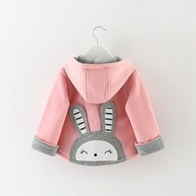 Autumn Winter Baby Girl Infants Kids Double Breasted Hooded Cute Rabbit Jacket Coats Outwears Christmas Gift Casaco Roupas S4171(China (Mainland))