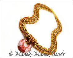 Herringbone Helios Collier by Manek-Manek Beads - Jewelry | Kits | Beads | Patterns