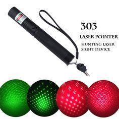 Hunting laser sight device Laser 303 Pointer Adjustable Focus Lazer Green Red with Safe Key 26014