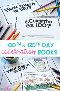 Celebrate the 100th day of school and the 120th day of school with these counting books. Kindergarten and first grade students will complete these projects by reading and drawing to personalize their own book. These books are available in both English & Spanish. If you are looking for new ideas and activities for this special day, you need to check this resource!