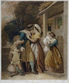 The Sailor's Return, 1798. William Ward, Engraver, Mezzotint. Thomas Stothard, artist.  .