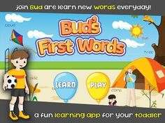 Bud's First English Words - Vocabulary Builder, Reading Game, Picture Dictionary & Learning activities for Preschool Toddlers - a vocabulary building app (about 350 everyday words). Fun Learning, Learning Activities, Reading Games For Kids, Improve Reading Skills, Vocabulary Builder, Illustrated Words, Nouns And Verbs, Picture Dictionary, Rhyming Words