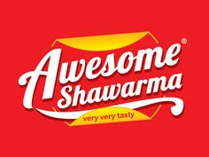 Awesome Shawarma logo design by zee que designbolts 25 Cool & Creative Fast Food & Drink Logos For Inspiration