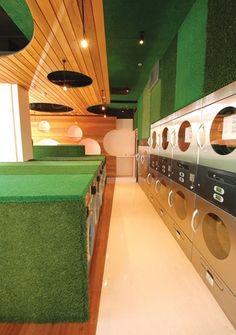 his is the coolest laundromatt i've ever seen!    Retail Design – SUDS Laundrette by Plus Architecture.