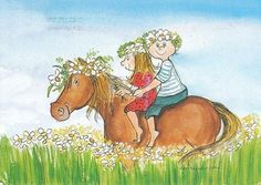Postcrossing postcard from Finland June Flower, Whimsical Art, Zebras, Beautiful Horses, Illustrations, Moose Art, Images, Scandinavian, Cartoon