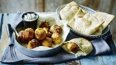 Carrot and coriander falafel |      Try Simon Rimmer's healthy twist on falafel, with a herby yoghurt sauce. Serve with toasted pitta and hummus.Each serving provides 51kcal,2g protein, 4g carbohydrate (of which 0.5g sugars)2.5g fat (of which 0.5g saturates), 1.5g fibre and 0.1g salt per portion.