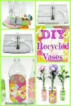 Recycle Glass Bottles for a Beautiful Easter Floral Centerpiece