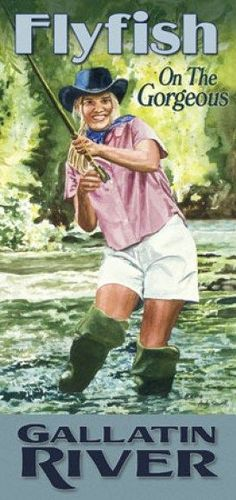 This will be me in November Fly Fishing Girls, Gone Fishing, Trout Fishing, Fishing Lures, Fishing Trips, Fish Artwork, Pin Up Posters, Fish Print, Sea Fish