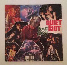 PLEASE REPIN  QUIET RIOT - BAD BOY - VINYL - LP - EP  (1983 EPIC IMPORT) FREE SHIPPING #GlamHairMetalPopMetal