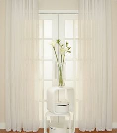 Window Curtains & Drapes for sale Voile Curtains, Window Curtains, Sliding French Doors, Buy Windows, Ramen, Glass Vase, Patio, Style Inspiration, Mirror