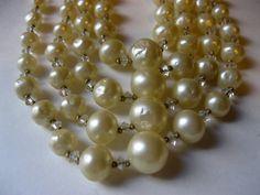 Vintage Hattie Carnegie 4 Strand Baroque Pearl by Sisters2Vintage, $148.00
