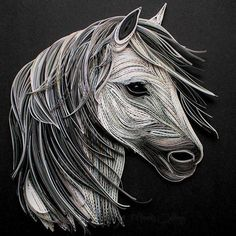 A beautiful quilling horse