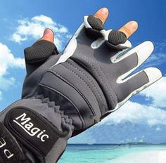Brand fishing gloves waterproof gloves three fingers exposable thick warm winter gloves professional fishing gloves M L $12.98