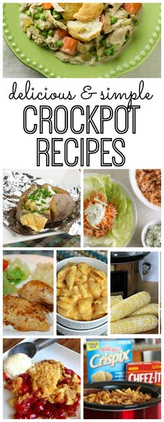 Did you know you can make corn on the cob in the crockpot? How about baked potatoes? My all-time FAVORITE simple crockpot recipes!