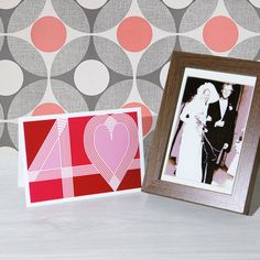 Ruby 40th wedding anniversary card handmade 40 & heart typography ruby red blank or optional / personalised message inside - pinned by pin4etsy.com