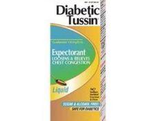 Expectorant Liquid Diabetic Tussin EX 100 mg / 5 mL 4 oz.  Price : $6.73