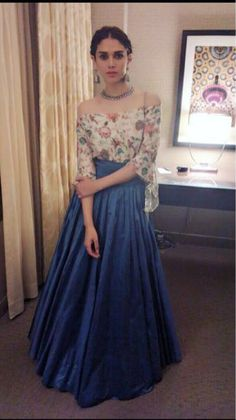 By designer Payal Singhal. Bridelan- Personal shopper & style consultants for Indian/NRI weddings, website www.bridelan.com #PayalSinghal #AditiRaoHydari #Bridelan #BridelanIndia.