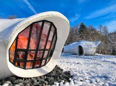 Museumotel, Francía. Dormir en una burbuja rodeado de nieve es posible en este hotel francés.