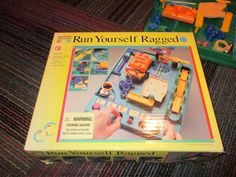 1992 PAVILION RUN YOURSELF RAGGED OBSTACLE COURSE BOARD GAME, AGES 6+, GUC #PAVILION