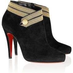 d6e8df68ef17 Christian Louboutin Marychal 100 suede ankle boots Christian Louboutin  Outlet
