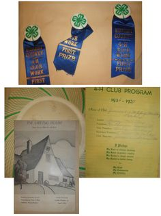 Do you have your own 4-H scrapbook? Check out this one! This person mother's scrapbook is from when she was about eleven years old.