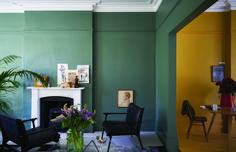 Green Smoke India Yellow Wimborne White - The Chromologist Farrow And Ball Living Room, Living Room Green, Green Rooms, My Living Room, Living Room Decor, Dining Room, Room Colors, House Colors, Paint Colours
