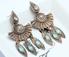 1 Pair Elegant Green Crystal Rhinestone  Ear Drop Dangle Stud long Earrings 220