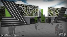 Выставочный комплекс востока: архитектура, зd визуализация, 2 эт | 6м, выставка, 500 - 1000 м2, фасад - ж/б, павильон, фасад - камень, восточный, архитектура #architecture #3dvisualization #2fl_6m #уxhibition #500_1000m2 #facade_ironconcrete #pavilion #facade_stone #oriental #architecture