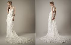 From the Runway: Elizabeth Fillmore Spring 2014 Collection - Salt Lake/Park City Bride and Groom 2015 Wedding Dresses, Wedding Attire, Bridesmaid Dresses, Bridesmaids, Elizabeth Fillmore, Gowns Of Elegance, Elegant Gowns, Chiffon Gown, Vintage Bridal