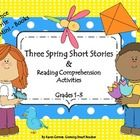 SPRING INTO READING with these three short and sweet stories --just right for literacy centers focusing on comprehension skills!    Sequence Events for each story. Great Practice! 20+ pages....