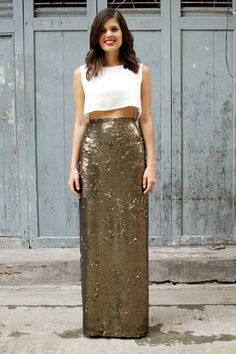 DIY Hall Of Fame: 13 Projects For The Weekend #refinery29  http://www.refinery29.com/best-diy-projects#slide5  Easy-Sew Sequined Maxi-Skirt  Making a skirt sounds like a stressful Project Runway episode, not a relaxing weekend project. But, this glam DIY by A Pair & A Spare is ridiculously easy and the very definition of glam.