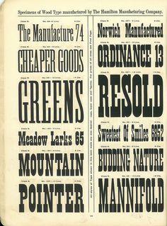 Hamilton Wood Type Catalog #14 Year: 1899-1900