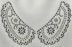 Pretty all crystal Iron on rhinestone design. Sue's Sparklers: Neckline Rhinestone Transfers