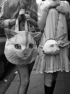 cheap designer handbags and purses,cheap designer handbags buy,cheap replica brand handbags online Crazy Cat Lady, Crazy Cats, Look Fashion, Fashion Bags, Diy Fashion, Mode Bizarre, Looks Kawaii, Bunny Bags, Animal Bag