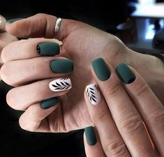 46 Splendid Matte Nail Design Ideas Try For You is part of Nail designs - It is only a chic and statement making idea and it'll suit everyone Matte nail art is currently quite a […] French Nails, Acrylic Nail Designs, Nail Art Designs, Nails Design, Green Nail Designs, Colorful Nail, Blue Nail, Striped Nails, Manicure E Pedicure