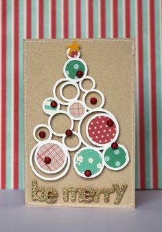 Handmade Christmas Cards - Pebbles, Inc. Christmas Cards To Make, Christmas Tag, Xmas Cards, Christmas Greetings, Handmade Christmas, Holiday Cards, Christmas Crafts, Christmas Ideas, Greeting Cards