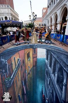 3D STREET ART – ILLUSIONS BY 3D JOE AND MAX!