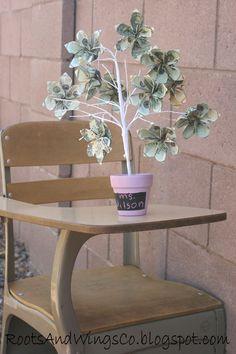Money Tree, teacher appreciation/gift