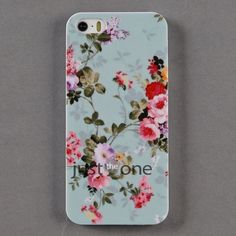 New Fashion Cute Retro Rose Flowers Hard Skin Case Cover for Apple iPhone 5 5S