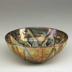 BEATRICE WOOD  ( the one&only) Glazed earthenware bowl