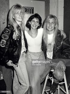 """Actress Tracy Nelson and musicians Mathew Nelson and Gunnar Nelson attending """"Tracy Nelson Oscar Telecast Rehearsals"""" on March 1989 at ABC TV Studios in Los Angeles, California. Tracy Nelson, Full Nelson, Hollywood Actor, Classic Hollywood, Old Hollywood, Jake Gyllenhaal Shirtless, Gunnar Nelson, James Darren, Frankie Avalon"""