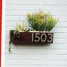 Wrought Studio Clarkesville Steel 1 Line Wall Address Plaque Color: Rust, Font Color: Brushed Aluminum, Customize: Yes Metal Wall Decor, Metal Wall Art, Address Plaque, Address Numbers, Address Signs, Roman Clock, Small Wood Projects, Diy Projects, New Homeowner Gift