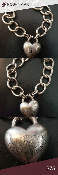Heart lock bracelet Serling silver. Can add charms to the bracelet. Juicy Couture Accessories