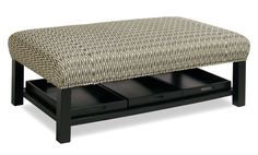 Accent Ottomans Storage Bench Ottoman with Tray Storage by Craftmaster