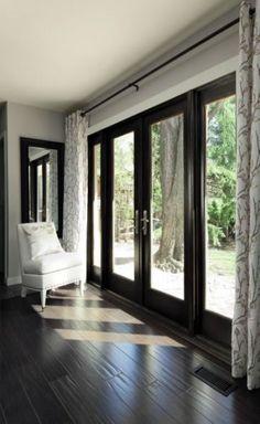 21 Trendy Ideas For Sliding Door Blinds French Patio Glass Door Curtains, Sliding Door Curtains, Patio Door Curtains, French Door Curtains, French Doors Patio, Sliding Patio Doors, Sliding Glass Door, French Patio, Glass Doors