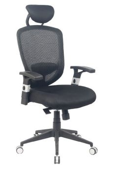 VIVA OFFICE® Comfort Ergonomic Mesh High Back Multifunction Swivel Office Chair, Office Task Chairs with Adjustable Arms and Seat -