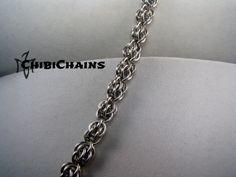 Bracelet - Sweet Pea by Chibichains #Chibichains #Chainmail #Chainmaille #Sweetpea #Bracelet